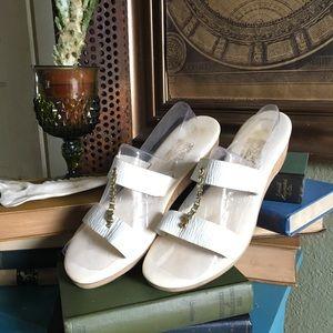 White Gold Sandals